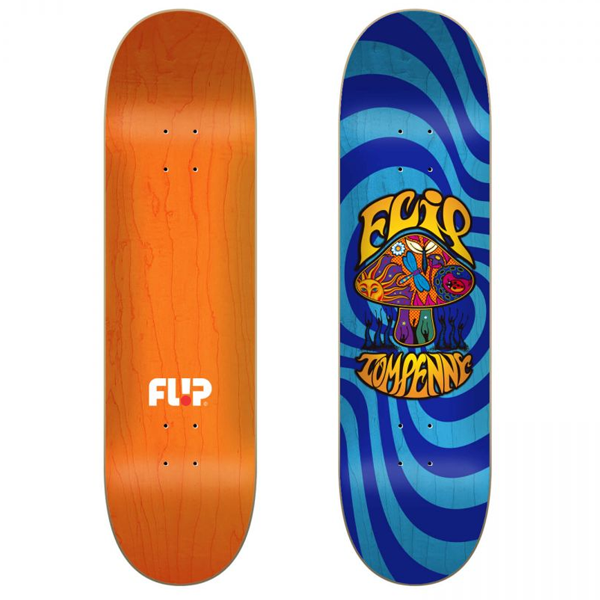 СКЕЙТБОРД ДЪСКА FLIP PENNY LOVESHROOM BLUE STAINED 8''